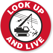 Look Up And Live Hard Hat Decals