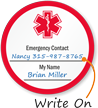 Medical Alert Write-On Hard Hat Decals