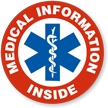Medical Information Inside Hard Hat Decals