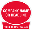 OSHA 10 Hour Trained Custom Hard Hat Decal