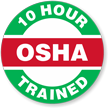 OSHA 10 Hour Trained Hard Hat Decals
