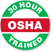 OSHA 30 Hour Trained Hard Hat Decals