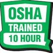 OSHA Trained 10 Hour Hard Hat Decals