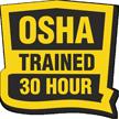 OSHA Trained 30 Hour Hard Hat Decals