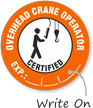 Certified Overhead Crane Operator Hard Hat Decals
