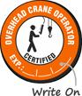 Certified Overhead Crane Operator Hard Hat Decals