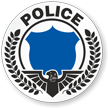 Police Hard Hat Stickers
