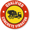 Qualified Concrete Vibrator Hard Hat Decals