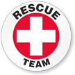 Rescue Team Hard Hat Labels