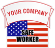 Safe Worker Add Your Company Name Custom Hard Hat Decal