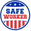 Stars & Stripes Safe Worker Hard Hat Labels