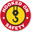 Safety Hooked On Hard Hat Decals