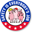 Safety Is Everybodys Job Hard Hat Label