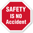 Safety Is No Accident Hard Hat Decals