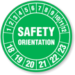 Safety Orientation Hard Hat Decals