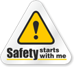 Safety Starts With Me Hard Hat Decals