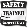 Safety Trained Certified Hard Hat Decals