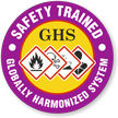 Safety Trained GHS Hard Hat Decals