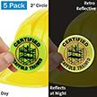 Certified Scaffold Trained Hard Hat Label