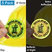 Qualified Scissors Lift Operator Hard Hat Label