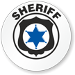 Sheriff Hard Hat Stickers