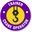Trainer Crane Operator Hard Hat Decals