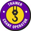 Trainer Crane Operator Hard Hat Decals