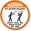 Warning Avoid Injury Hard Hat Decals