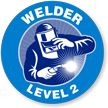 Welder Level 2 Hard Hat Decals