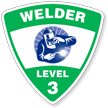 Welder Level 3 Hard Hat Decals