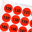 Fluorescent Orange Numbered Reflective Dots 129-192