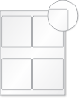 Laser Printable Blank Stationery, 4-Labels/2.75in. x 4in. Sheet