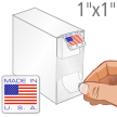 Made In USA Flag Labels in Dispenser
