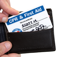 First Aid Trained Wallet Card