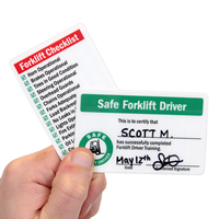 Self Laminating Forklift Wallet 2-Sided Cards