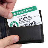 Self Laminating Forklift 2-Sided Wallet Cards