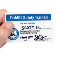 Forklift Safety Trained, Wallet Crad