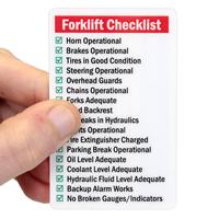 Self Laminating Forklift Certification Wallet Card