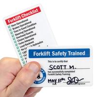 Forklift Safety Trained / Forklift Checklist