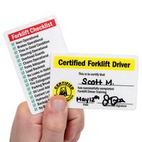 Certified Forklift Driver / Forklift Checklist