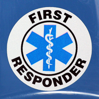 First Responder Hard Hat Sticker
