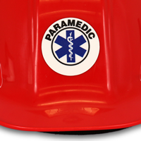 2' Circle Paramedic Hard Hat Labels