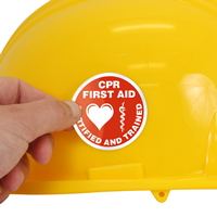 CPR First Aid Certified Hard Hat Labels