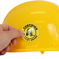 Certified Driver Hard Hat Label