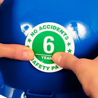 No Accidents Years Safety Pays Hard Hat Stickers