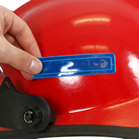 Blue Reflexite strips for fire helmets