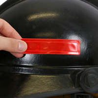 Red reflective stickers for fire helmets