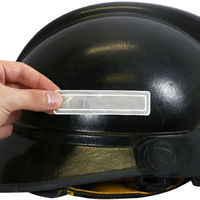 Use at least a pair of reflective stickers – one for each side of the hard hat or helmet