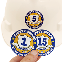 Safety Award Years Label
