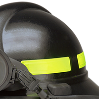 Use reflective strips on helmets or hard hats